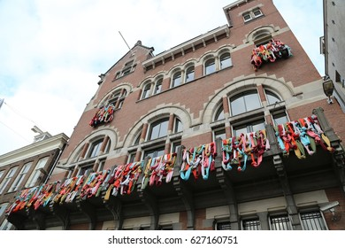 The NETHERLANDS - 8 APR: Visiting City Center in Amsterdam, the Netherlands on 8 April 2017