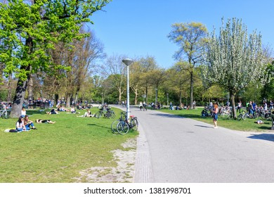 Netherlands, Amsterdam, 20 April 2019 - View Of Vondelpark In Amsterdam