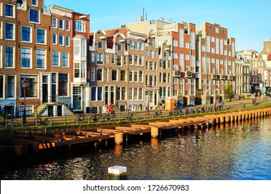 Netherlands, Amsterdam - JAN 2020 : Landscape of Amsterdam