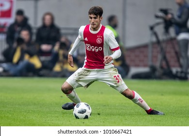 NETHERLANDS, Amsterdam - January 21th 2018: Ajax speler Nico Tagliafico during the Ajax - Feyenoord match
