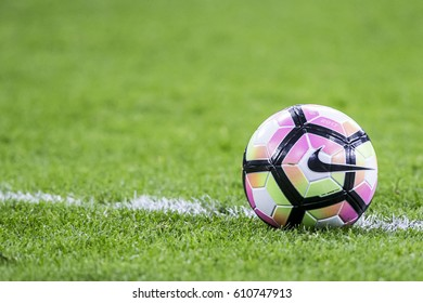 NETHERLANDS, AMSTERDAM - March 29th 2017: Friendly match between the Netherlands and Italy , Nike Ordem 4 ball official premier league ball