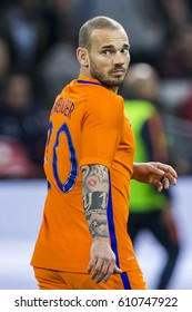 NETHERLANDS, AMSTERDAM - March 29th 2017: Friendly match between the Netherlands and Italy , Wesley Sneijder