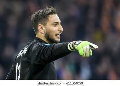 NETHERLANDS, AMSTERDAM - March 29th 2017: Friendly match between the Netherlands and Italy ,  Goalkeeper Gianluigi Donnarumma