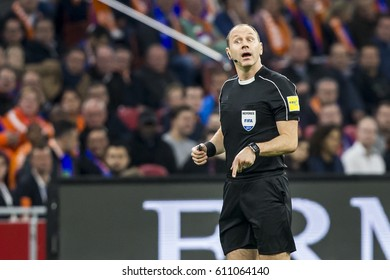 NETHERLANDS, AMSTERDAM - March 29th 2017: Friendly match between the Netherlands and Italy ,  Referee Jonas Eriksson