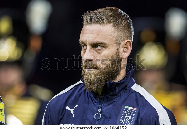 NETHERLANDS, AMSTERDAM - March 29th 2017: Friendly match between the Netherlands and Italy , Daniele De Rossi