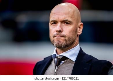 NETHERLANDS, AMSTERDAM - Octobber 28th 2018  Ajax trainer coach Erik ten Hag During Ajax - Feynoord