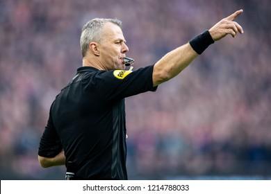 NETHERLANDS, AMSTERDAM - Octobber 28th 2018  Referee Bjorn Kuipers during Ajax - Feynoord