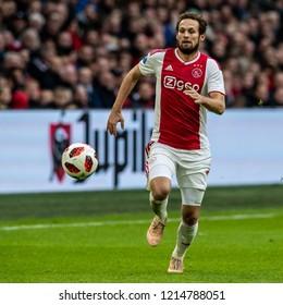 NETHERLANDS, AMSTERDAM - Octobber 28th 2018  Ajax player Daley Blind during Feyenoord - Ajax