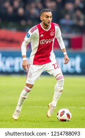 NETHERLANDS, AMSTERDAM - Octobber 28th 2018  Ajax player Hakim Ziyech During the match Ajax - Feyenoord