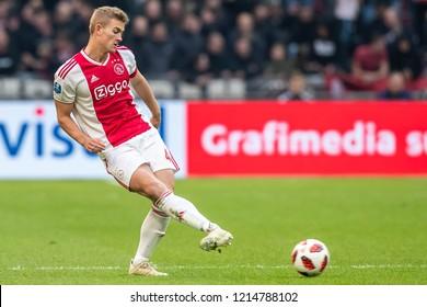 NETHERLANDS, AMSTERDAM - Octobber 28th 2018  Ajax player Matthijs de Ligt during Feyenoord - Ajax