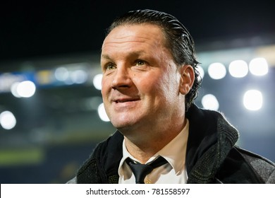 NETHERLANDS, BREDA - December 23th 2017: Belgium trainer of NAC Breda, Stijn Vreven