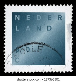 "NETHERLANDS - CIRCA 1998: A stamp printed in Netherlands, shows a Bereavement Stamp, without inscription, from the series ""Light across Darkness"", circa 1998"