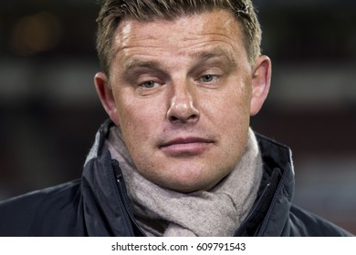 NETHERLANDS, EINDHOVEN - 15th Oct 2016: Heracles Almelo trainer coach John Stegeman at the Philips Stadium