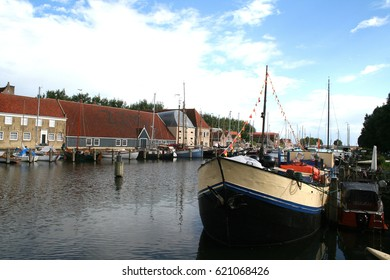 Netherlands, Enkhuizen june 2016: ship in the harbor