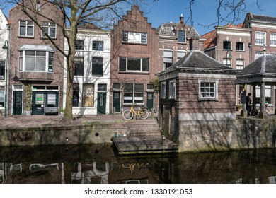 Netherlands, Gouda, 2017, The famous facades from the dutch town of Gouda. With it's red brick constructions and large windows.