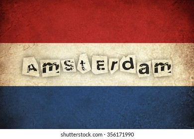 Netherlands grunge grunge flag background illustration of european country with text