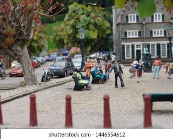 Netherlands, Hague - September 9, 2007: Madurodam Park. Park of miniature.