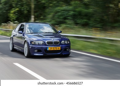 Netherlands June 17, 2016 BMW e46 M3 driving on the highway at Holland