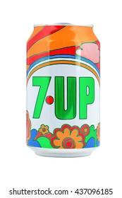 NETHERLANDS - LEIDSCHENDAM - MEDIA OCTOBER 2015: 7UP cans.