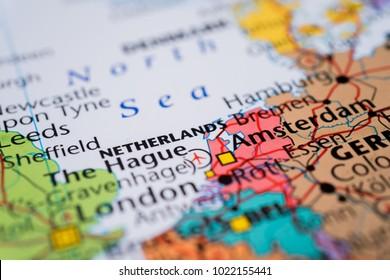 Netherlands map background