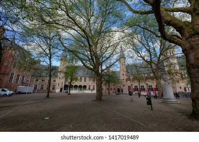 Netherlands, Middelburg - Zeeland, april 28, 2018 : Middelburg Abbey is a former Premonstratensian abbey in Middelburg. At one time it was the centre of a large monastic complex.