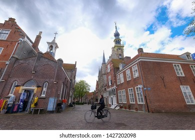 Netherlands, Middelburg - Zeeland, april 28, 2018 : late-gothic town hall of Middelburg is situated at the market of Middelburg, Zeeland. Construction was completed in 1520