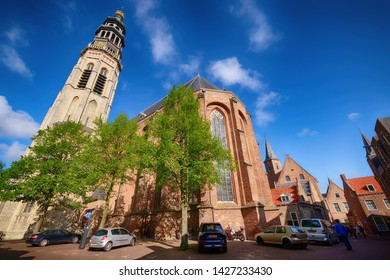Netherlands, Middelburg - Zeeland, april 28, 2018 : John Abbey Tower , middelburg, Netherlands
