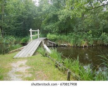 Netherlands, province of Friesland. Little bridge
