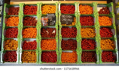 NETHERLANDS - ROTTERDAM - CIRCA July 2018: Tommies cherry tomatoes. Tommies introduced 17 years ago as the first snack tomato in the Netherlands. Tommies is part of Greenco.
