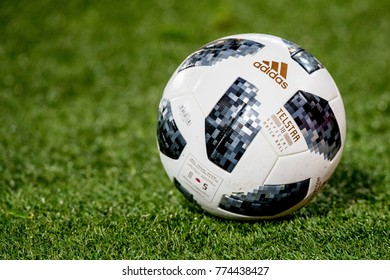 NETHERLANDS, ROTTERDAM - December 14th 2017:  Official Russia 2018 World Cup football ball The Adidas Telstar 18