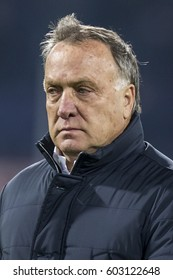 NETHERLANDS, ROTTERDAM - December 8th 2016: Dick Advocaat , trainer coach manager of Fenerbahce during Uefa europa league match Feyenoord - Fenerbahce at Stadion Feijenoord / De Kuip