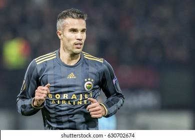 NETHERLANDS, ROTTERDAM - Decemer 8th 2016: Feyenoord vs Fenerbahce in the Europa League group stage , Robin van Persie