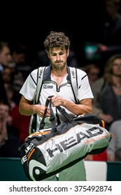 NETHERLANDS, ROTTERDAM - February 10th 2016: at the Sportpaleis Ahoy during the ATP World Tour indoor tennis tournament ABN AMRO WTT , Robin Haase