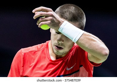 NETHERLANDS, ROTTERDAM - Febuary 10th 2016: at the Sportpaleis AHOY during the ATP 500 World Tour ABN AMRO indoor Tennis Tournament Borna Coric