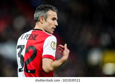 NETHERLANDS, ROTTERDAM - January 28th 2018: Robin van Persie during he's first match in De Kuip stadium During match Feyenoord - ADO Den Haag