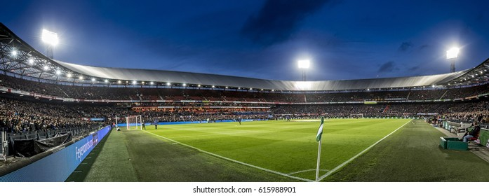 NETHERLANDS, ROTTERDAM - July 23th 2016: Feyenoord - Go Ahead Eagles 8-0 , overview panorama of the field at De Kuip football / scocer stadium