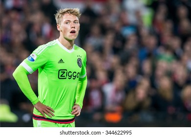 NETHERLANDS, ROTTERDAM - October 28th 2015: at the De Kuip stadium during the KNVB Beker match Feyenoord against Ajax , Viktor Fischer in away shirt