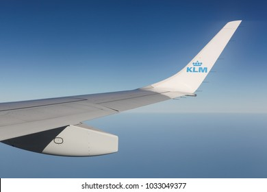 Netherlands - September 15, 2016: KLM is the flag carrier airline of the Netherlands. KLM is headquartered in Amstelveen, with its hub at Amsterdam Airport Schiphol.