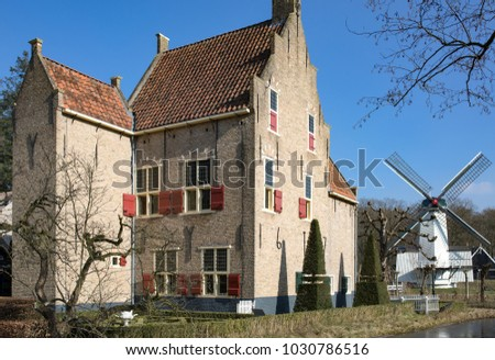 Netherlands Traditional Architecture Old Dutch Houses Stock Photo