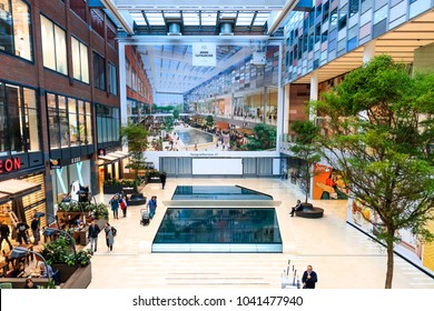 Netherlands, Utrecht, 16 November 2017 - Hoog Catharijne Shopping Mall In Utrecht