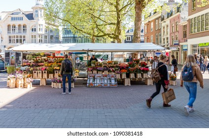 Netherlands, Utrecht, 16 November 2017 - Flower Shop in Utrecht, Netherlands