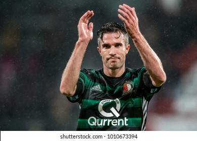 NETHERLANDS, UTRECHT 24th jan 2018 Robin van Persien during he's first match for Feyenoord Rotterdam again FC Utrecht back after Fenerbahce, Manchester United and Arsenal