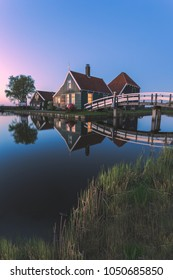 The Netherlands, Zaanse Schans, house at dusk