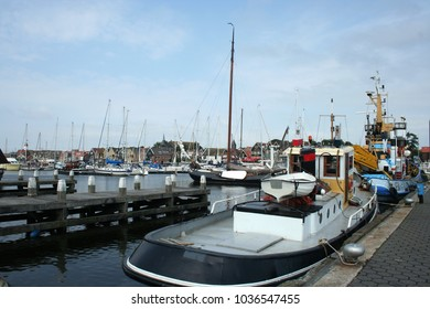 Netherlands,Flevoland,Urk,june 2017: Work-boat in de harbor of Urk