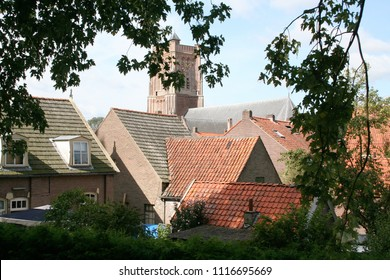 Netherlands,Holland,Dutch,North Brabant, Woudrichem, may,2016:Skyline of Woudrichem