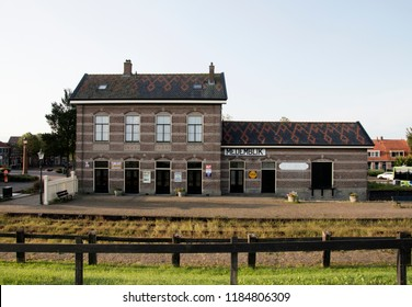 Netherlands,North-Holland,Medemblik,july 2018:Historic railway station