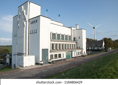 Netherlands,North-Holland,Medemblik,july 2018:Pumping station Lely in Medemblik