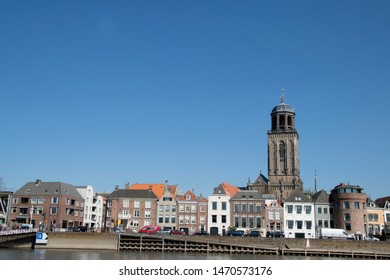 Netherlands,Overijssel,Deventer,april 2019:IJssel boulevard in Deventer