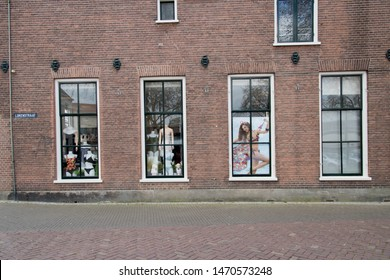 Netherlands,Overijssel,Deventer,april 2019:lingerie shop in the Lokenstraat in the centre