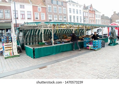 Netherlands,Overijssel,Deventer,april 2019:Market in the Groenstraat
